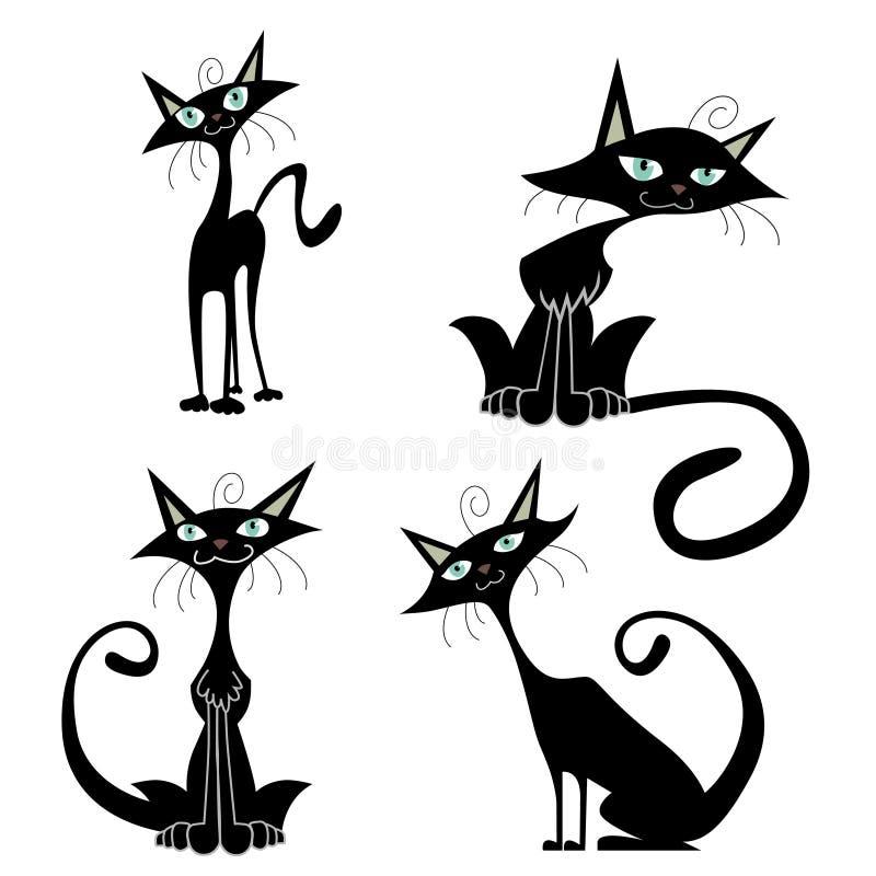 вектор котов шаржа иллюстрация штока