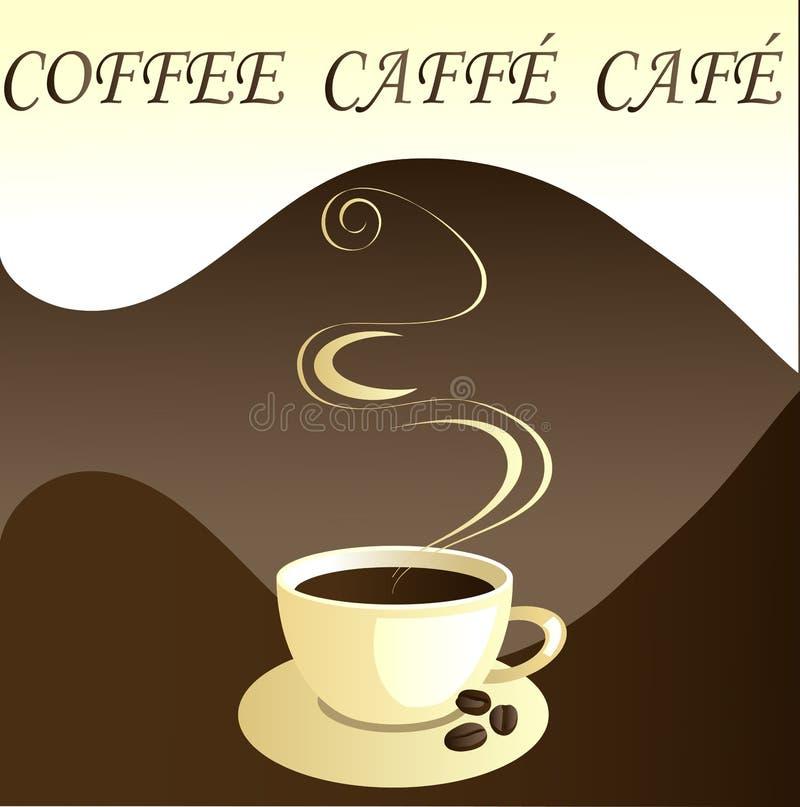 вектор кофе caffe кафа иллюстрация вектора