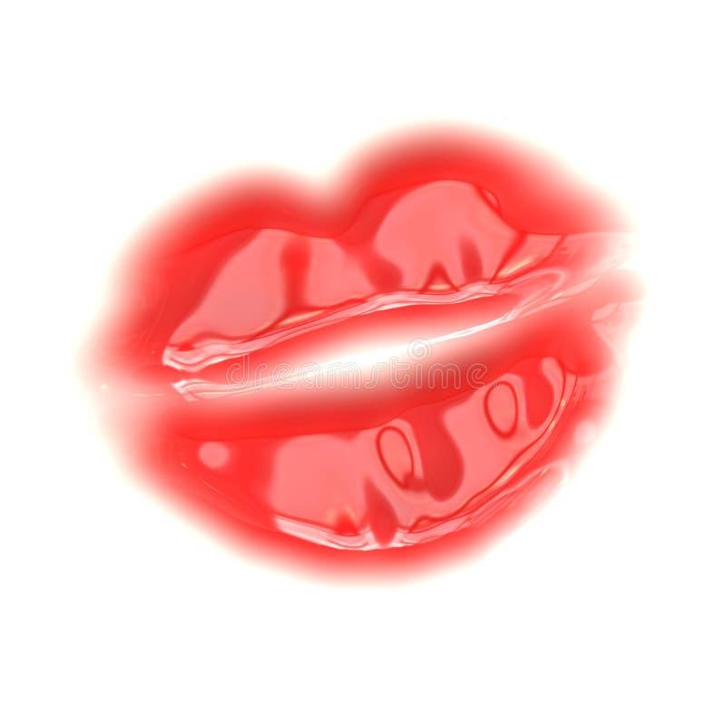 вектор красного цвета губ иллюстрация вектора