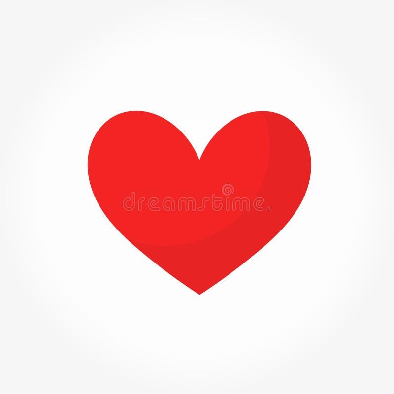 вектор красного цвета иллюстрации иконы сердца иллюстрация вектора