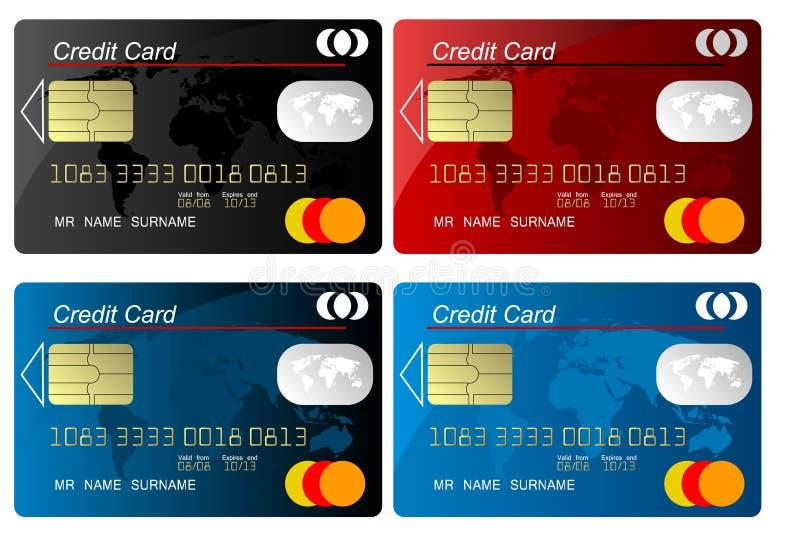 вектор кредита карточки иллюстрация вектора