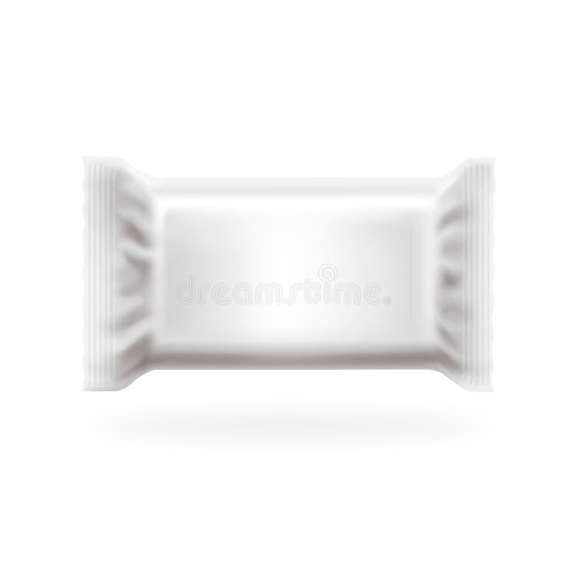 Вектор крышки пластичного бара пакета большой Шоколад, вафли, помадки и конфета пакуют Легкий в слоях, высоко детальных бесплатная иллюстрация