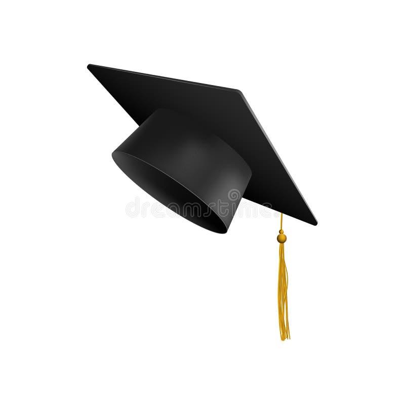 Вектор крышки 3d университета или коллежа градации изолированный на белой предпосылке бесплатная иллюстрация