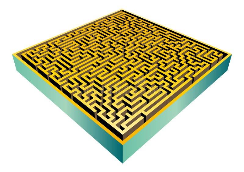 вектор лабиринта 3d иллюстрация вектора