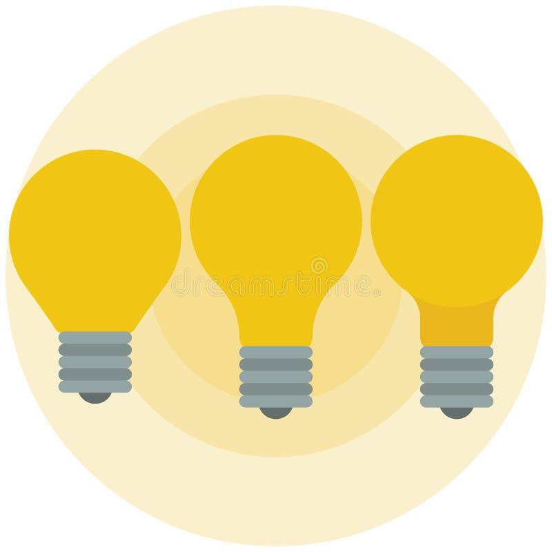 Вектор лампочки плоский стоковое изображение