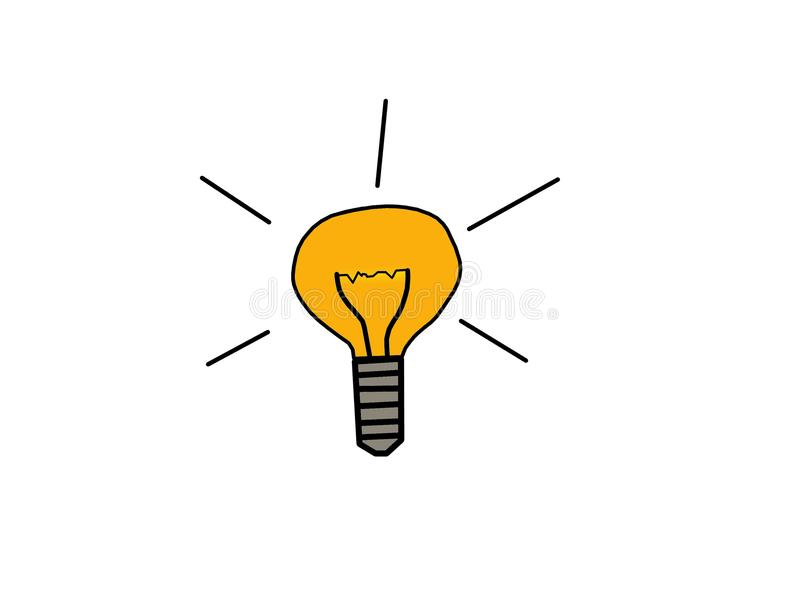 Вектор лампочки стоковые фото