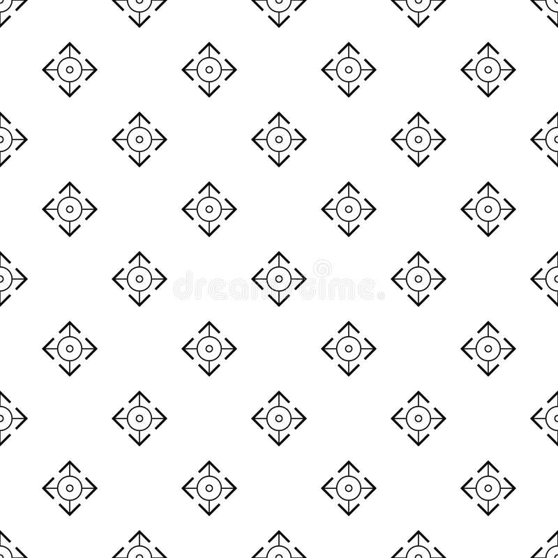 Вектор легкой картины цели безшовный иллюстрация вектора