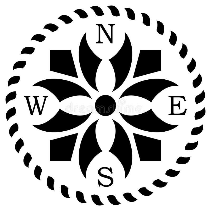 Вектор лимба картушки компаса с кельтским символизмом на изолированной белой предпосылке иллюстрация вектора