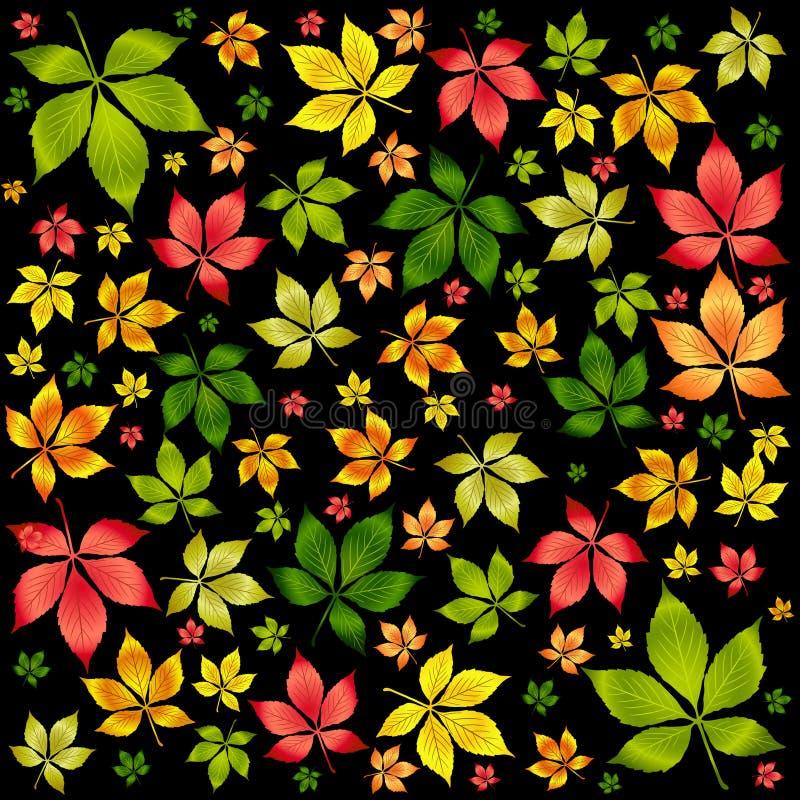 вектор листьев предпосылки осени цветастый иллюстрация штока