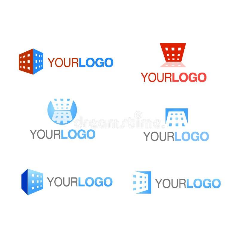 вектор логоса компании здания установленный иллюстрация штока