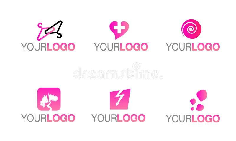 вектор логоса способа одежды