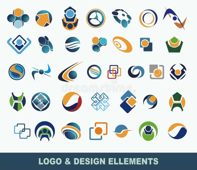 вектор логоса элементов собрания иллюстрация штока