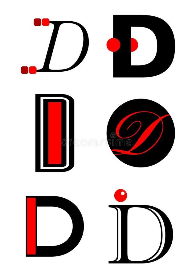вектор логосов икон алфавита d бесплатная иллюстрация