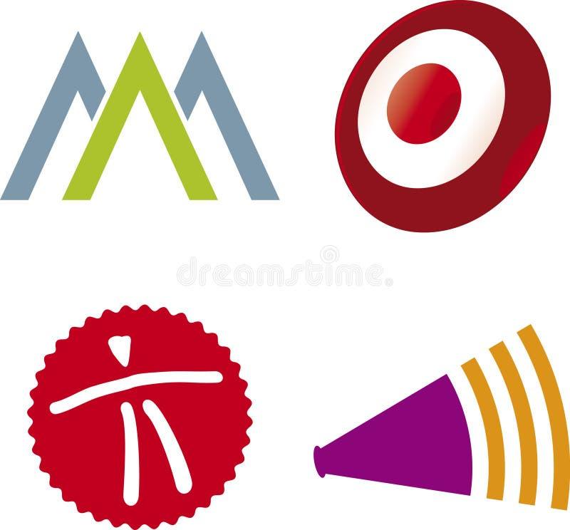 вектор логосов разносторонний иллюстрация вектора