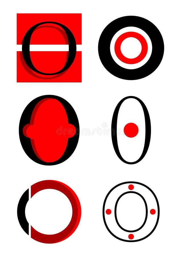вектор логосов o икон алфавита иллюстрация штока