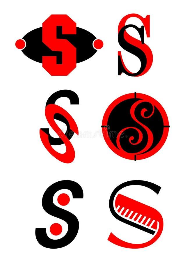 вектор логосов s икон алфавита иллюстрация штока