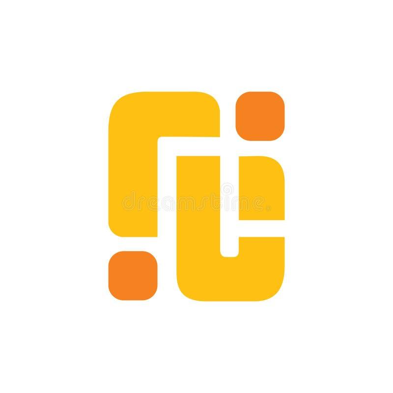 Вектор логотипа абстрактного rj письма простой геометрический иллюстрация штока