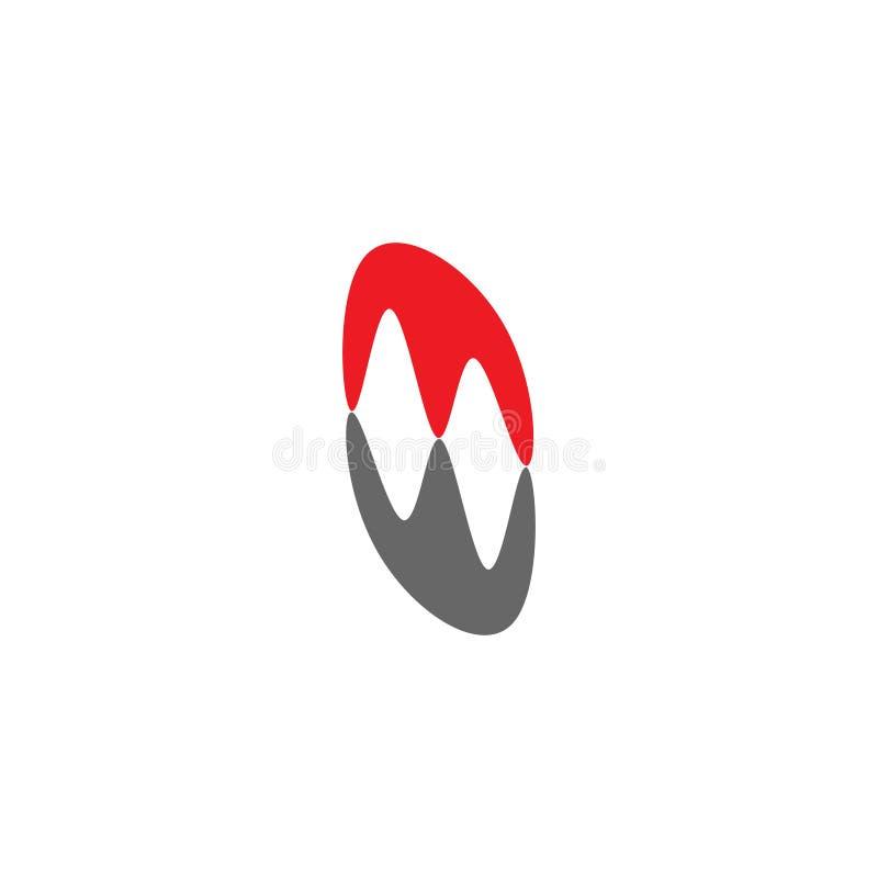 Вектор логотипа абстрактной простой тени mw письма милый бесплатная иллюстрация