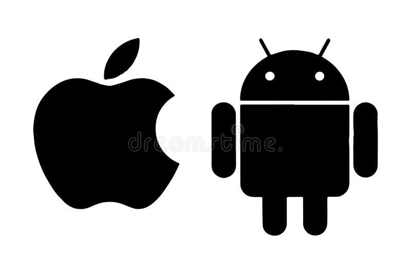 Вектор логотипа андроида Яблока редакционный бесплатная иллюстрация