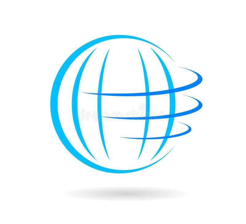 Вектор логотипа глобуса иллюстрация вектора