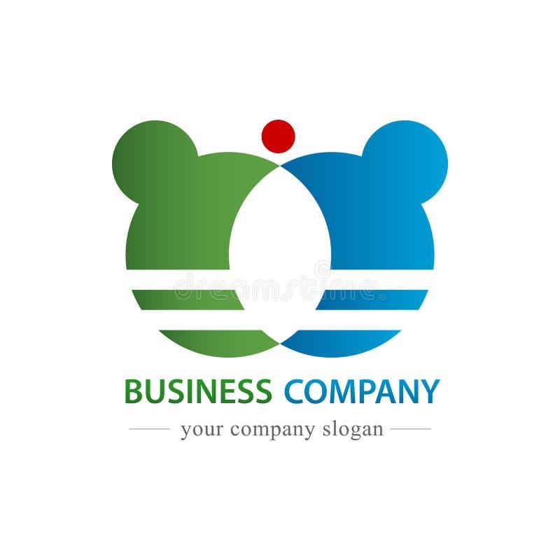 Вектор логотипа деловой компании Коммерчески и торгуя концепция r иллюстрация вектора