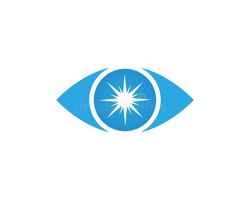 Вектор - вектор логотипа заботы глаза иллюстрация вектора