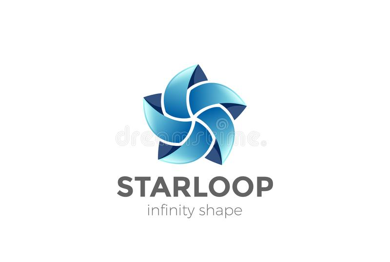 Вектор логотипа звезды абстрактный Сыгранность петли безграничности иллюстрация штока