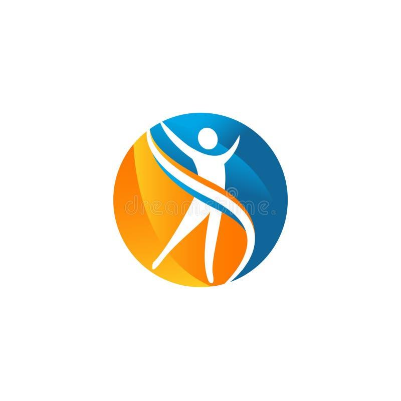 Вектор логотипа значка для здоровья, фитнеса, или beuty companyy иллюстрация штока