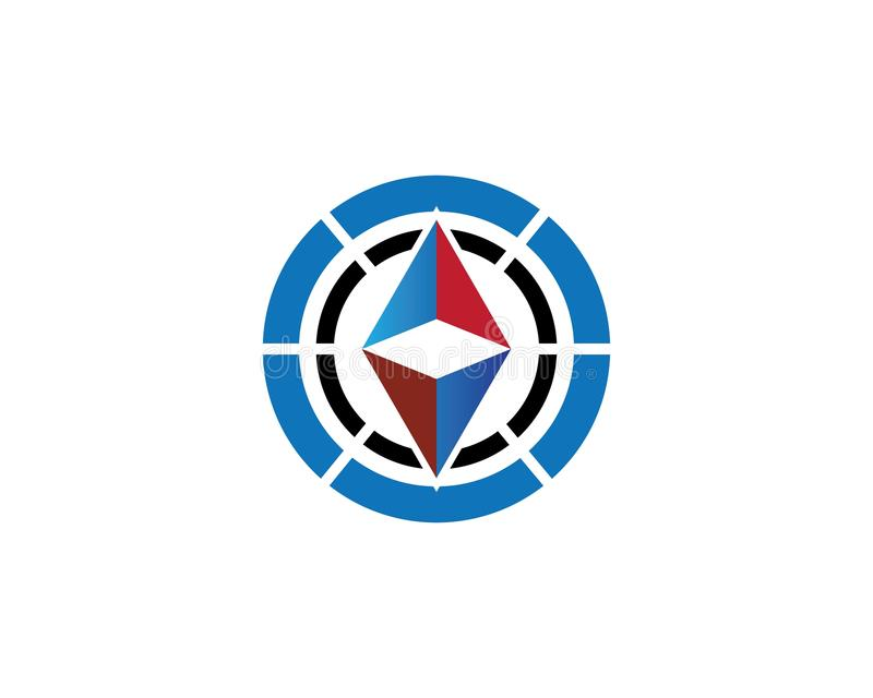 Вектор логотипа компаса иллюстрация вектора