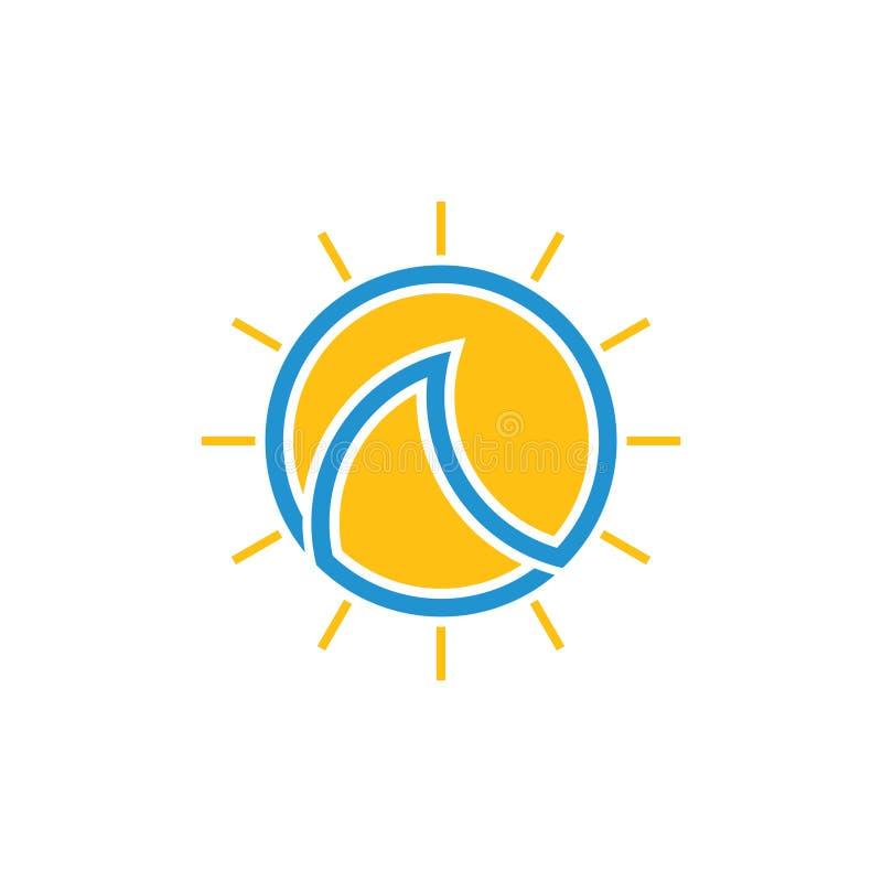 Вектор логотипа круга плана простых волн лучей солнца геометрический бесплатная иллюстрация