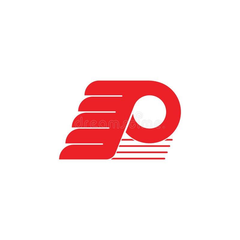 Вектор логотипа крыльев движения p письма бесплатная иллюстрация