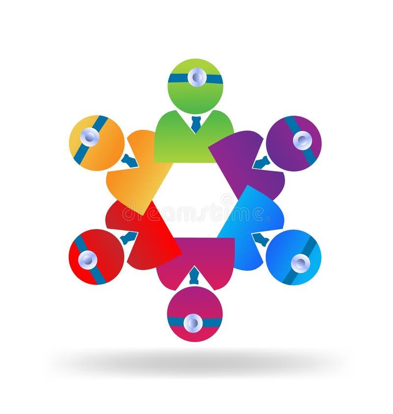 Вектор логотипа людей сыгранности медицинский иллюстрация штока
