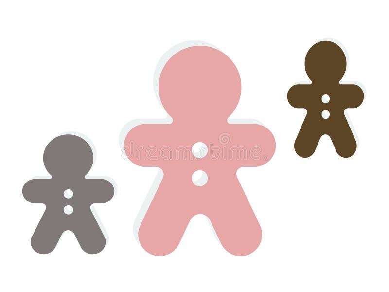 Вектор логотипа плюшевого мишки рождества на белой предпосылке бесплатная иллюстрация