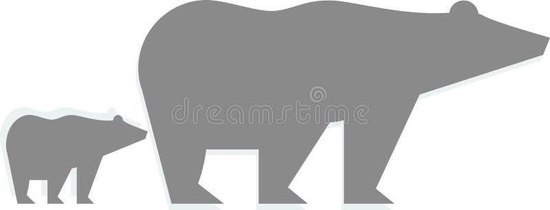 Вектор логотипа полярного медведя на белой предпосылке иллюстрация штока
