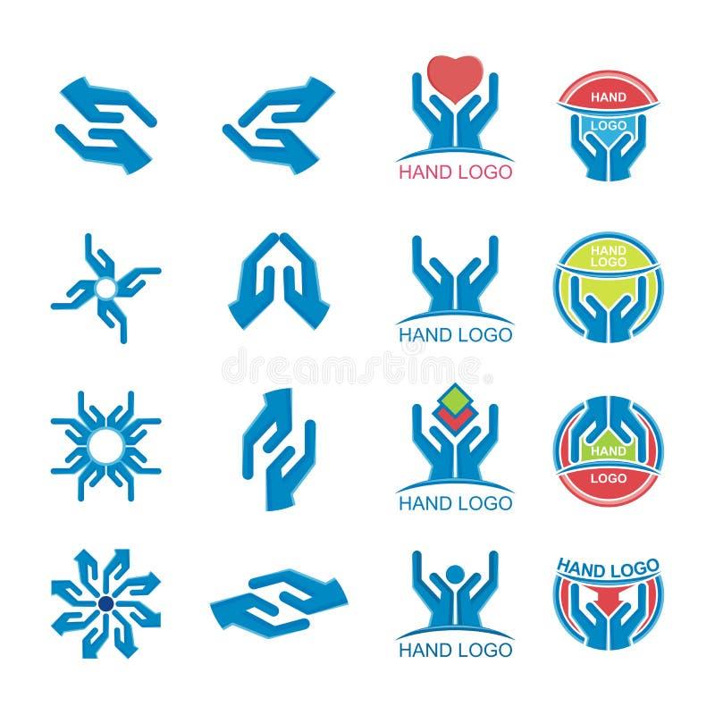 Вектор логотипа руки иллюстрация вектора