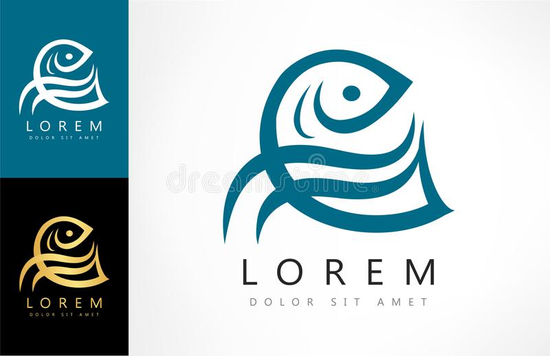 Вектор логотипа рыб иллюстрация штока