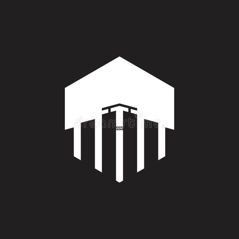 Вектор логотипа силуэта высотного здания бесплатная иллюстрация