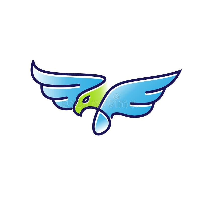 Вектор логотипа цвета орла плана иллюстрация вектора