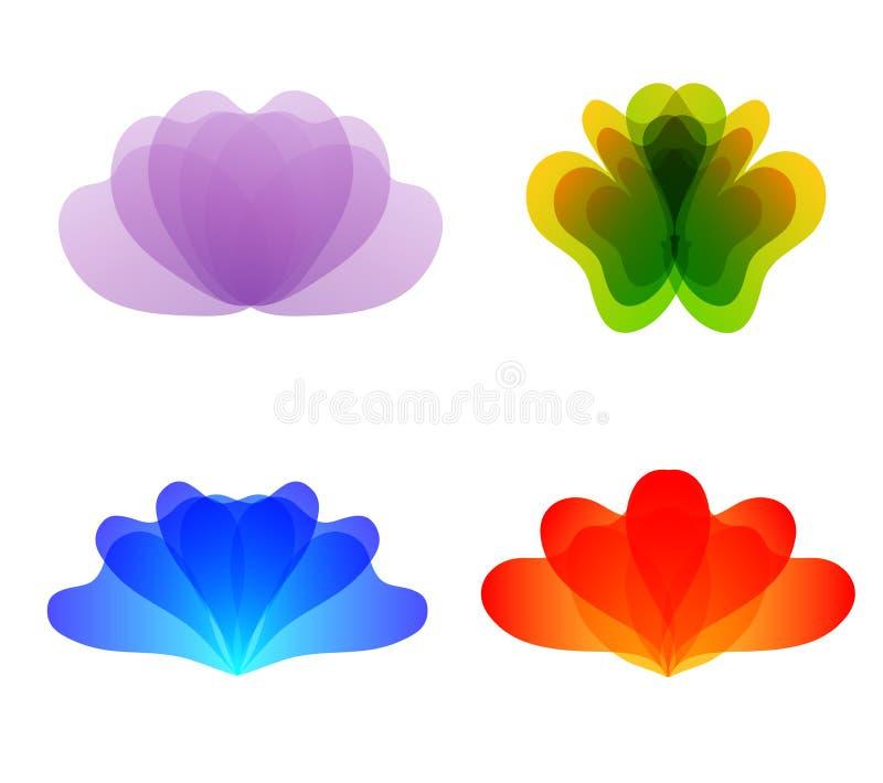 Вектор логотипа цветка иллюстрация штока
