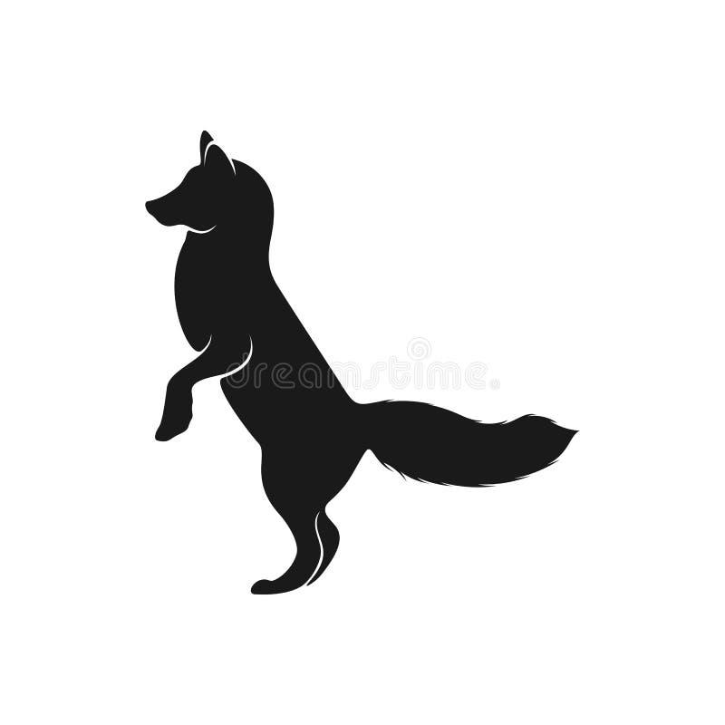 Вектор логотипа Fox Иллюстрация шаблона логотипа Animal Coyote иллюстрация вектора