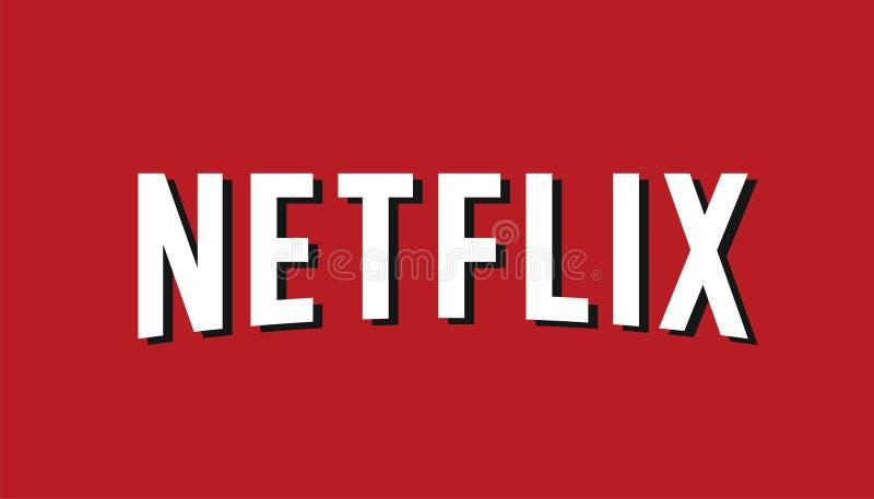 Вектор логотипа Netflix редакционный иллюстрация вектора