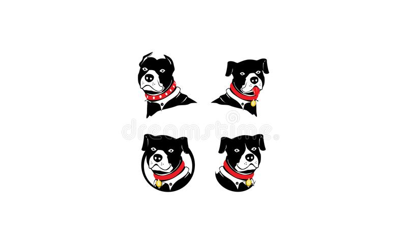 Вектор логотипа pitbull собаки иллюстрация вектора