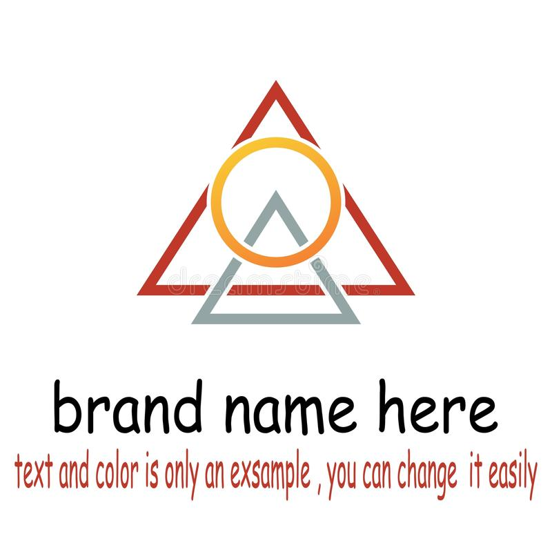 Вектор логотипа Triangel круглый бесплатная иллюстрация