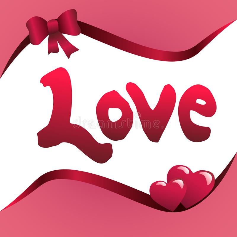 Вектор любов слова бесплатная иллюстрация