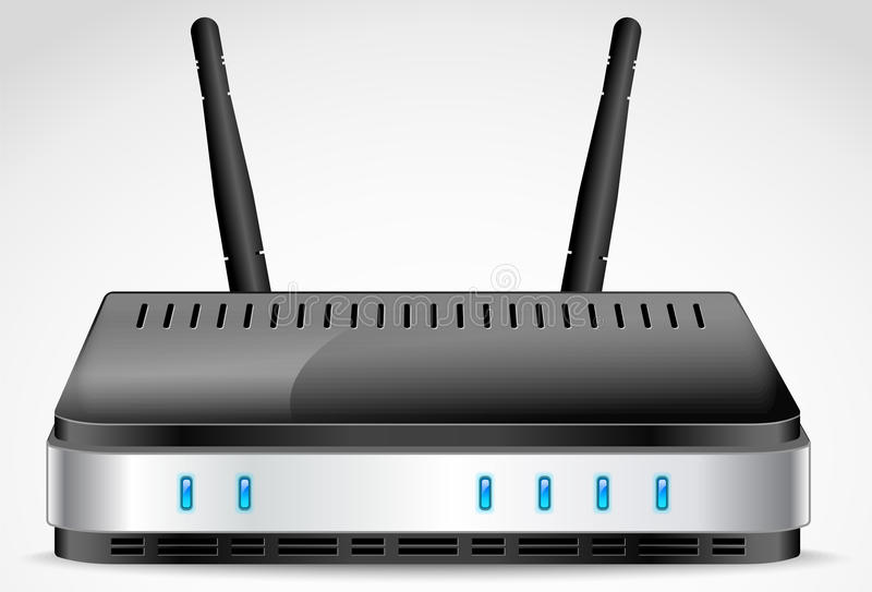 Вектор маршрутизатора Wi-Fi иллюстрация штока