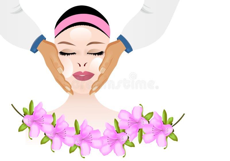 вектор массажа cdr косметический лицевой бесплатная иллюстрация