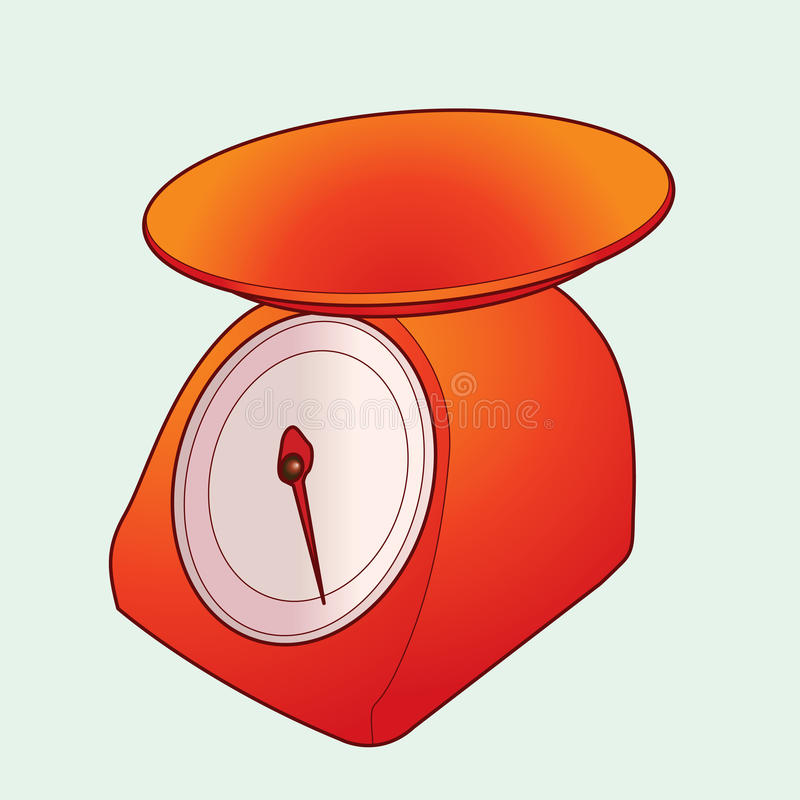 Вектор масштаба кухни иллюстрация штока
