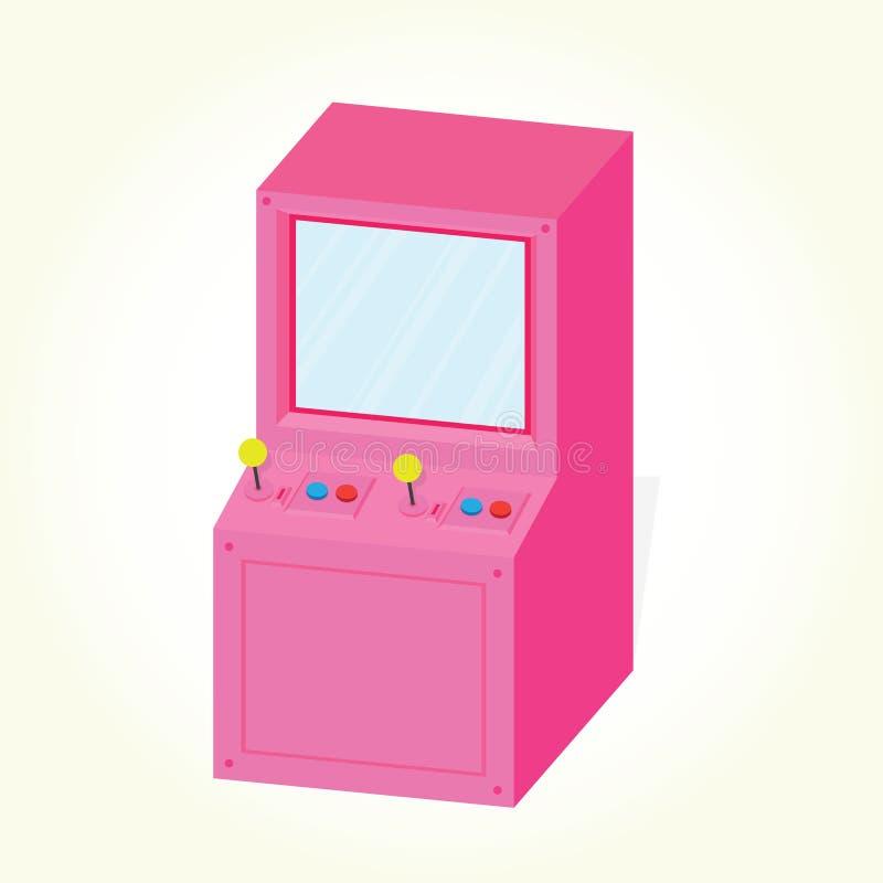 Вектор машины аркады изолированный шкафом иллюстрация штока