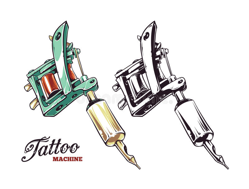 Вектор машины татуировки бесплатная иллюстрация