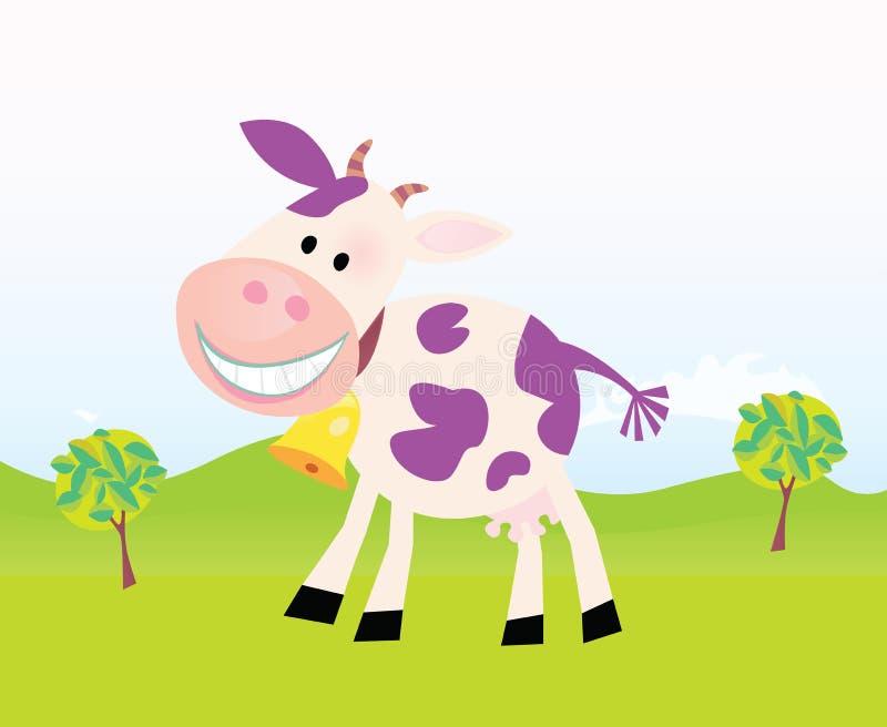 вектор места фермы коровы шаржа